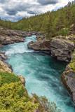 Ridderspranget - `The Knight-jump` - Sjoa river, Jotunheimen Nationalpark, Norway - 181539627