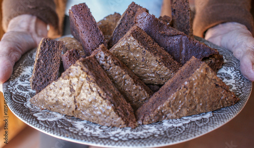 Deurstickers Baksteen muur Fugdy Brownies