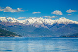 Picturesque view on Lake Como and Alps in Italy - 181540834