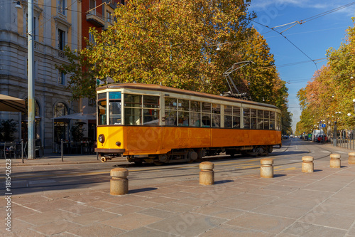 Papiers peints Milan Milan. Old tram.