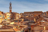 Siena. View of the old city district.