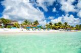 Tropical resort on sunny day at Costa Maya, Mexico