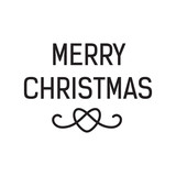 Merry Christmas lettering with heart