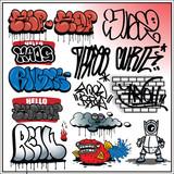 Graffiti Street Art Elements