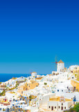 View of Oia the most beautiful village of Santorini island in Greece - 181551464