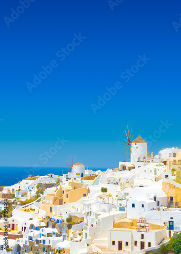 Deurstickers Santorini View of Oia the most beautiful village of Santorini island in Greece