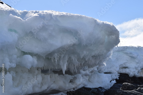 Foto op Canvas Grijs antartica