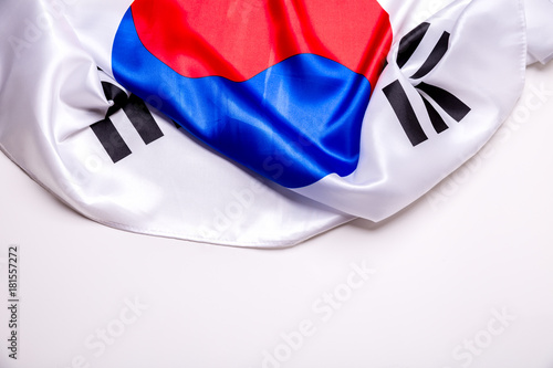 Tuinposter Seoel Authentic flag of the South Korea