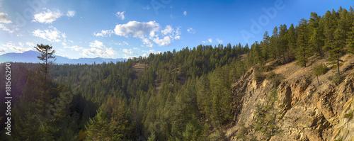 Keuken foto achterwand Panoramafoto s Panoramic view of the Rocky Mountains from Kootenay National Park in British Columbia, Canada