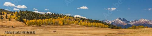 Keuken foto achterwand Panoramafoto s Mountain Fall Color Panorama
