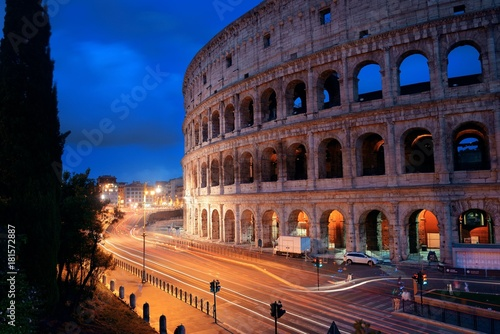 Foto op Canvas Rome Colosseum in Rome at night