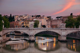 Rome River Tiber sunset - 181573045