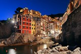 Riomaggiore waterfront night - 181573046