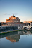 Castel Sant Angelo and River Tiber Rome - 181573056