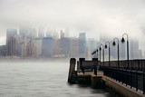 New York City downtown fog - 181573409
