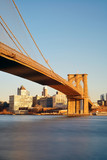 Brooklyn bridge at waterfront - 181573410