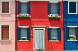 Colorful Burano closeup - 181573475