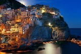 Manarola in Cinque Terre night moonrise - 181573484