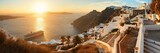 Santorini skyline sunset - 181573607