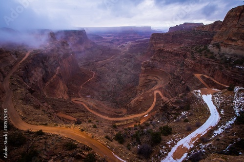 Foto op Canvas Chocoladebruin Views in the Canyonlands