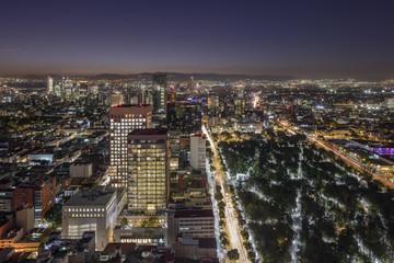 Mexico city at night.