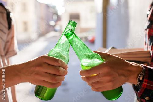 alcohol addiction. unhealthy lifestyle. modern teenage problems concept