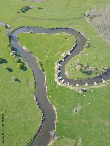 Keuken foto achterwand Gras eau riviere paysage vert environnement Gaume nature paysage pollution Wallonie natura 2000 protection amenagement agriculture Breuvanne