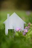 immobilier maison construction batir  logement pret hypothecaire banque investissement menage vert bois printemps bois brique terrain planete terre jardin fleurs loisir jardinage - 181585095