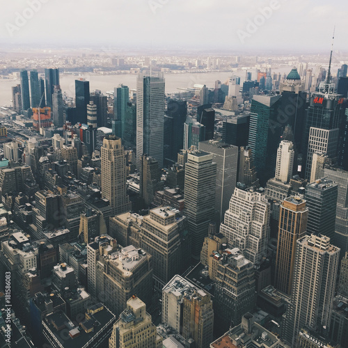 Foto op Aluminium New York 城市中心建筑群
