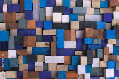 Fototapeta Colorful wooden cubes are in a panel .