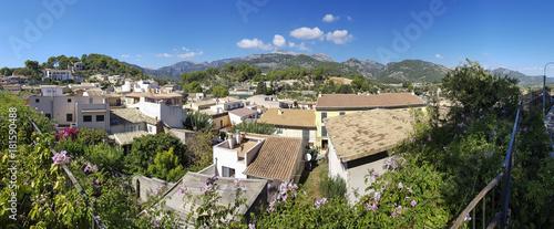 Panorama von Selva, Balearen, Mallorca, Spanien