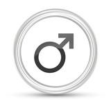 Weißer Button - Symbol für Mann - 181593689