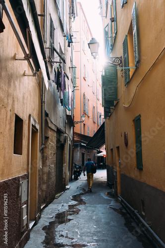 Fototapeta Narrow Alley in Nice, France