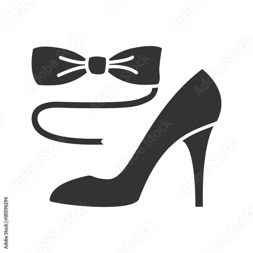 ce16ad35149 Bow tie and high heel shoe glyph icon