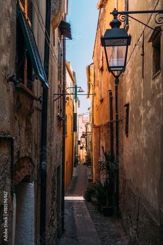 Foto op Canvas Smal steegje Cervo in Liguria, Italy