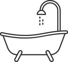 Bathtub Linear Icon Sticker