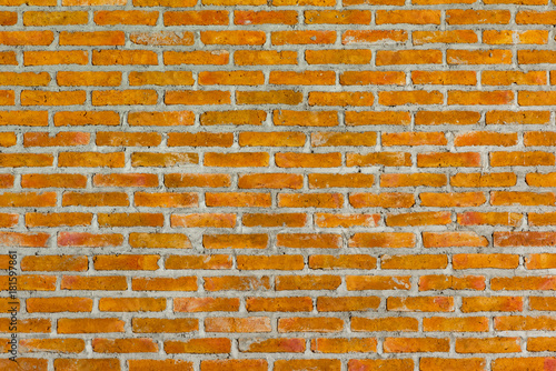 Deurstickers Baksteen muur Pattern of old brick wall for background and textured, Seamless dirty brick wall background