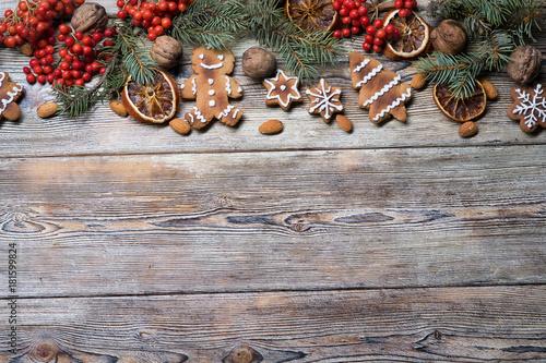 Papiers peints Kiev Christmas background on a wooden