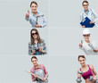 Collage of professional workers portraits