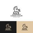 horse logo vector icon line art outline download