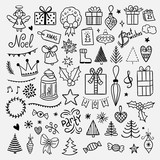 Christmas and New Year illustrations. Lovely winter doodles for Christmas holidays - 181607677