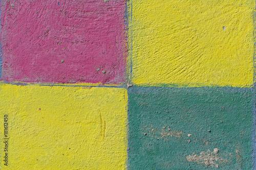 Fliesen in den Grundfarben als Textur © franzeldr