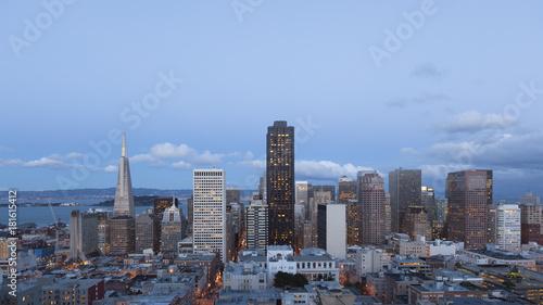 Plexiglas San Francisco San Francisco Skyline twilight