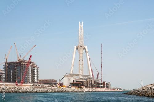 Foto op Aluminium Las Vegas Construction of Dubai Eye, the world's largest in Dubai, UAE