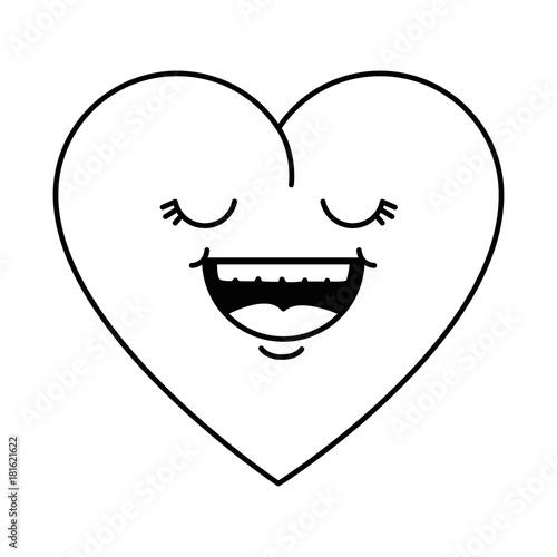 cute heart kawaii character vector illustration design - 181621622