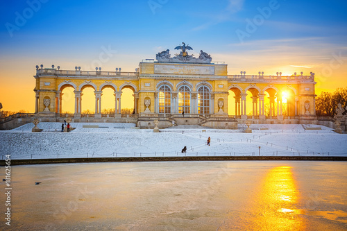 Foto op Canvas Wenen Gloriette in Schonbrunn Palace at winter, Vienna, Austria