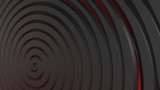 Black, red 3d spiral. Abstract background
