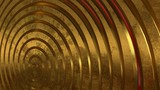 Gold, metal, 3d spiral. Abstract background