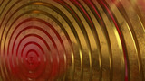 Gold, red, metal 3d spiral. Abstract background
