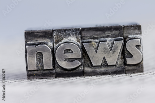 news in lead letters - 181630457